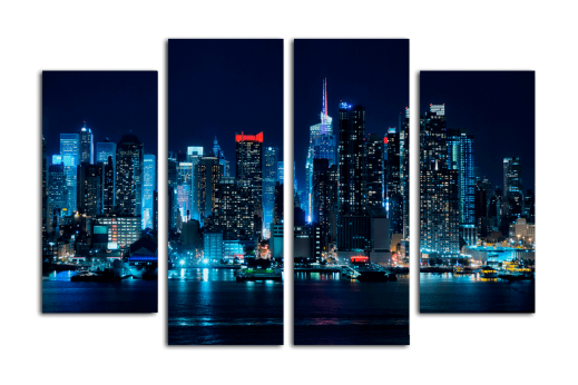 Модульная картина Огни мегаполиса