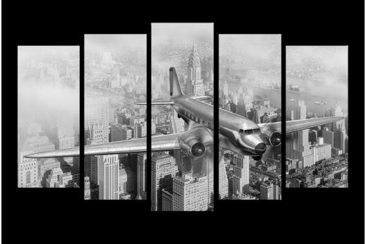 Модульная картина Полет над Нью-Йорком