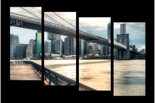 Модульная картина Строгость Бруклинского моста