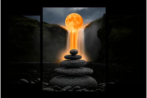 Модульная картина Сила природы