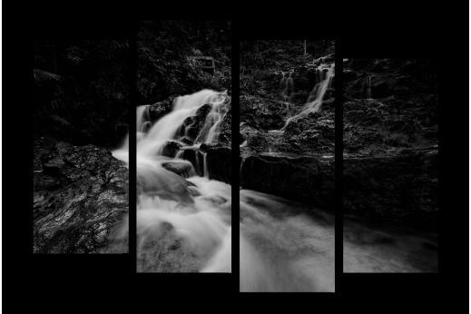 Модульная картина Движение вод