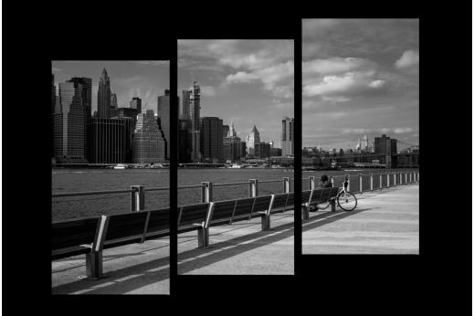 Модульная картина Пейзаж Нью-Йорка