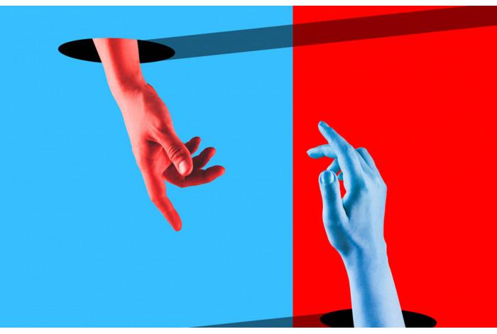 Модульная картина Синюю или красную